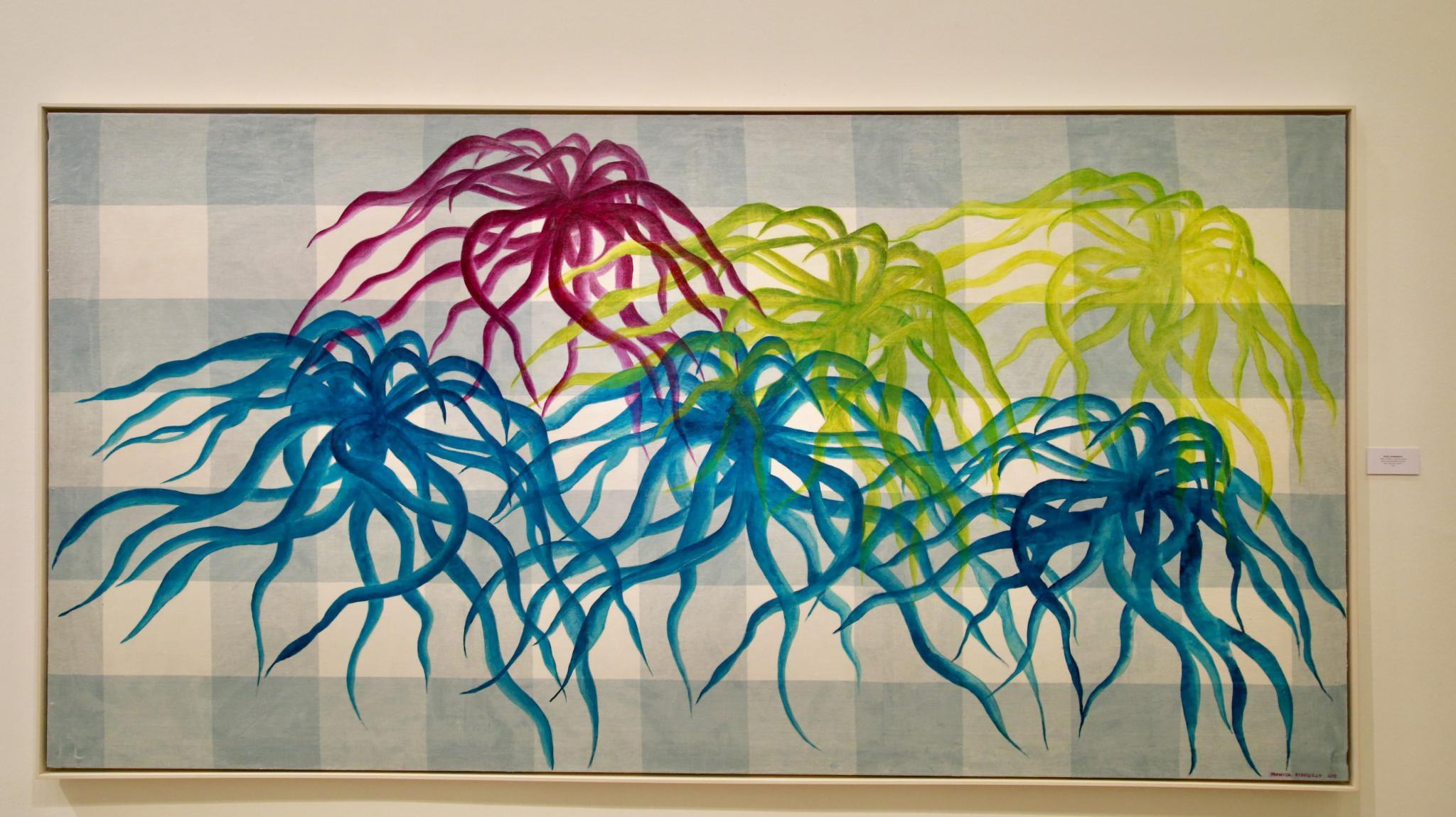 Die spanische Künstlerin Mónica Ridruejo prangert in ihren Werken den unvorsichtigen Umgang mit den Seegraswiesen an.