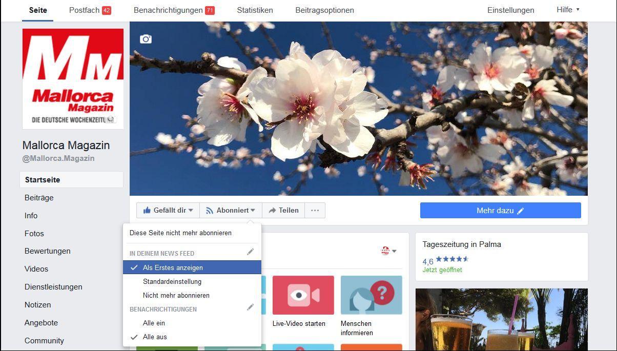 Auch weiterhin alles von mm bei facebook sehen for Nachrichten magazin