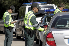 Verkehrskontrolle der Guardia Civil.
