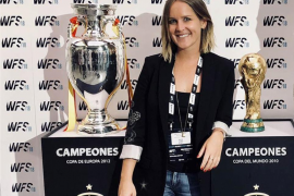 Laura Galmés Schwarz am Rande des World Football Summit Madrid 2018.