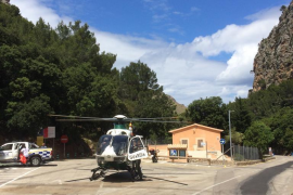 Helikopter der Guardia Civil auf Mallorca.