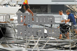 2017 ging Michelle Obama in Puerto Portals an Bord einer Yacht.